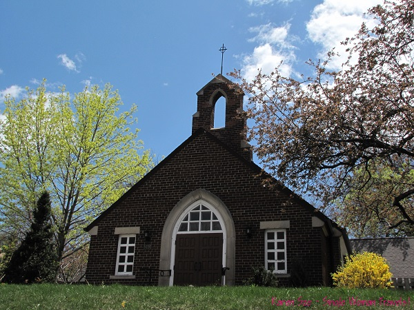 Old church on Yonge Street in Spring time