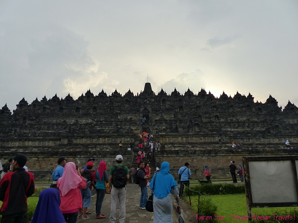 Partial view of Borobudur entrance in Indonesia