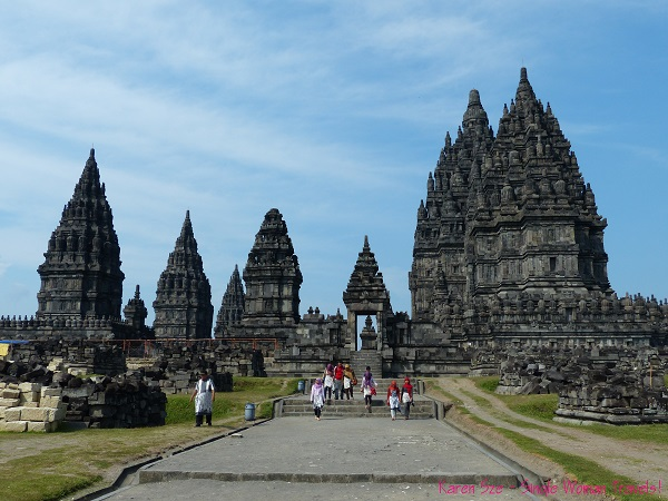 Prambanan temple complex in Jogjakarta, Indonesia