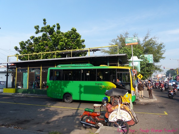 Public bus in Jogja, Indonesia
