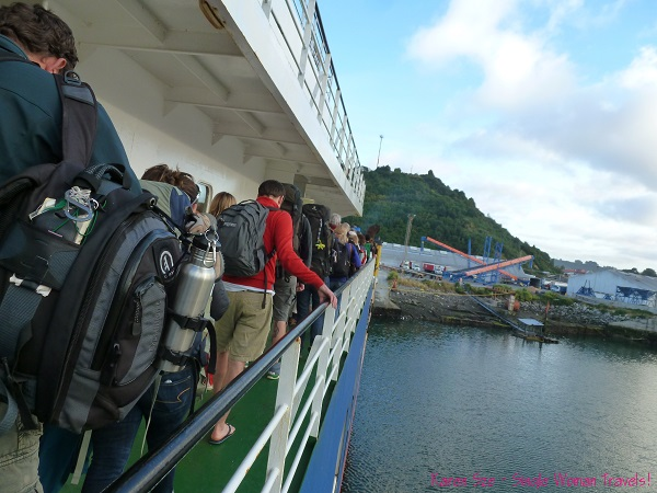 Ready to disembark the Navimag in Puerto Montt, Chile