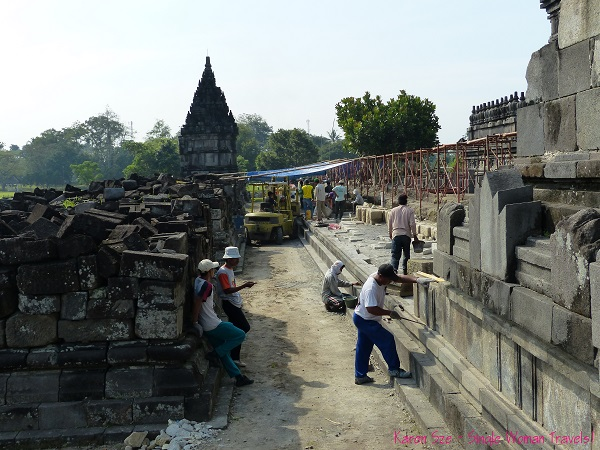 Reconstruction of Prambanan in Indonesia