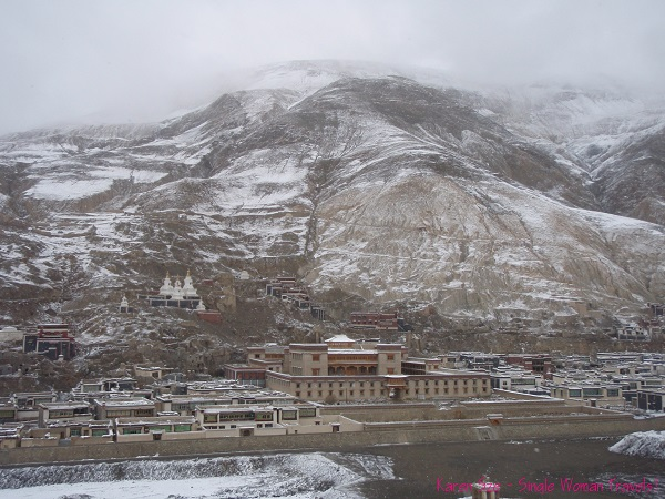 Remnants of Buddhist temples in Sakya, Tibet