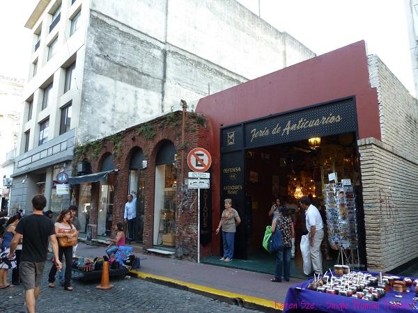 Shops in San Telmo, Buenos Aires, Argentina