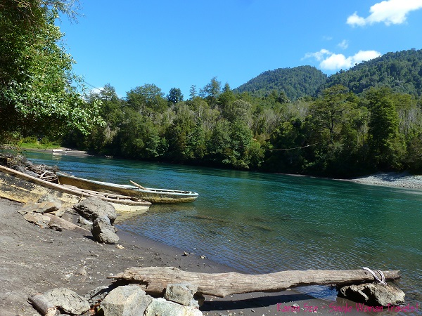 Upstream view of Petrohue river, Chile