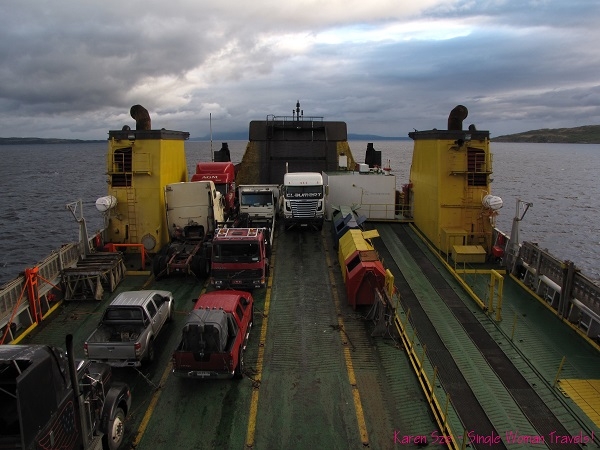 Vehicles on the Navimag