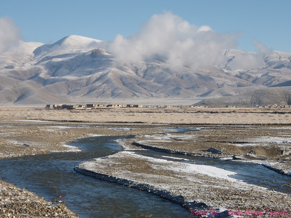 View of countryside in Tibet