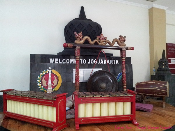 Welcome sign at Jogyakarta airport