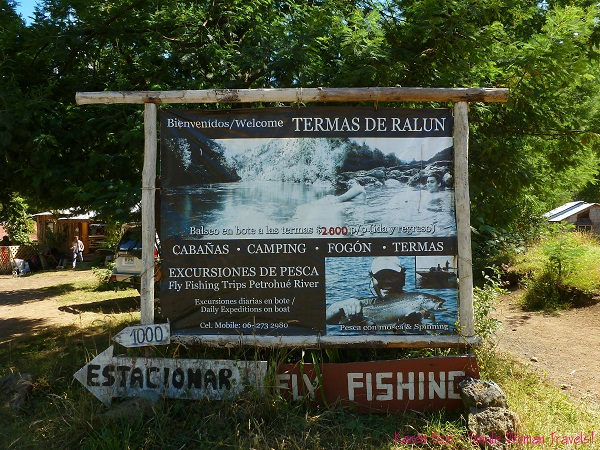 Welcome to Termas de Ralun - fishing sign