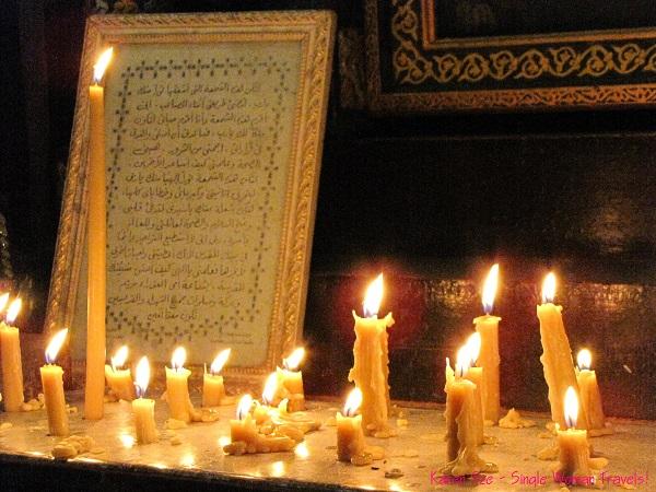 Vigil - candle lit mantel