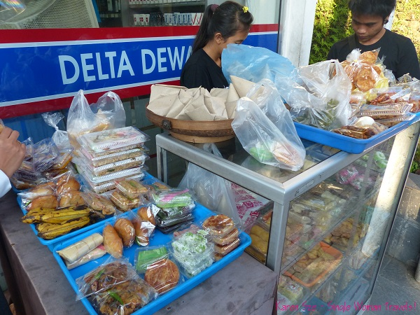 Breakfast snacks for sale in Ubud, Bali, Indonesia
