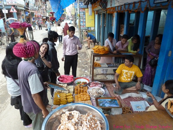 Busy bakery in Thamel, Kathmandu