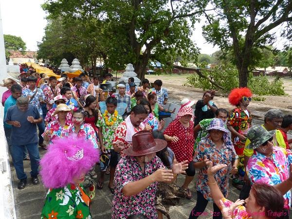 Celebration of Songkran in Ayuthaya