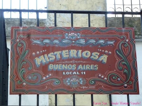 Fileteado Porteño -Mysteriosa, Buenos Aires, Argentina