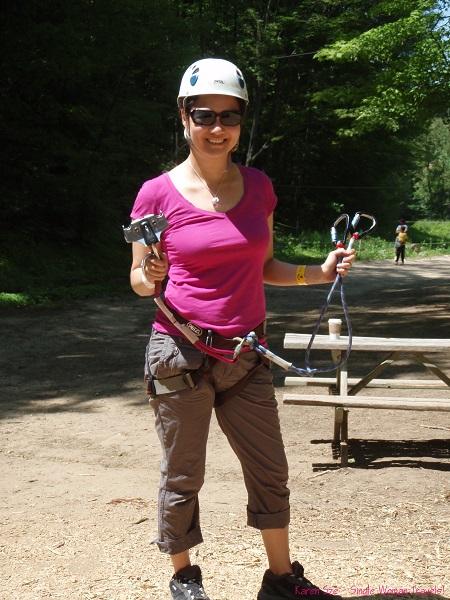 Karen Sze ready for her first zipline experience