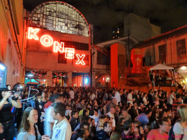Neon letters of Konex, Buenos Aires, Argentina