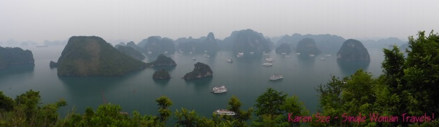Panoramic view of Ha Long Bay, Vietnam