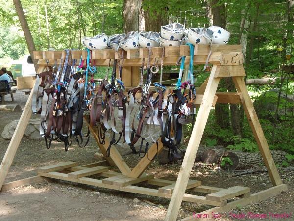 Safety equipment for zipline and treetop trekking