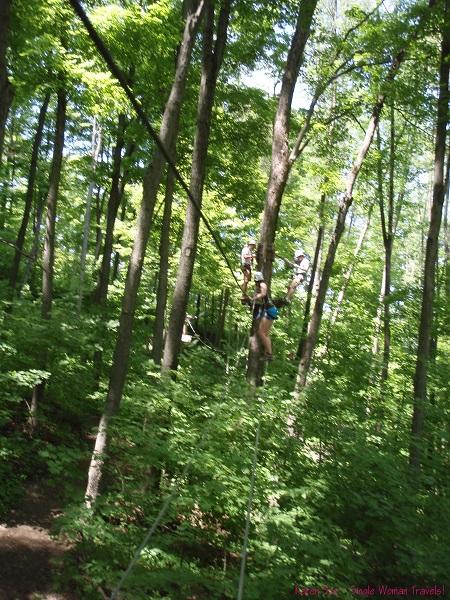 Treetop trekking fun with friends