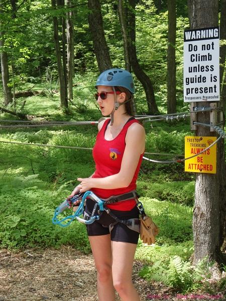 Treetop trekking safety demo