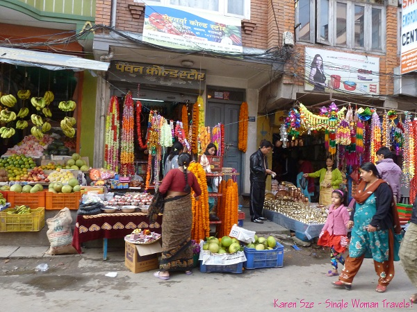 Vendors selling goods for Diwali