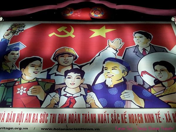 Vietnamese propaganda signage