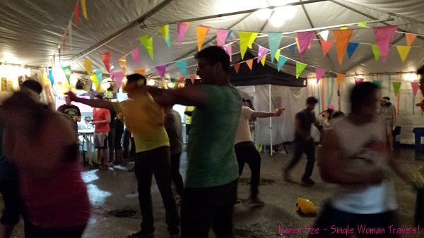 Water fight in Toronto to celebrate Songkran 2014