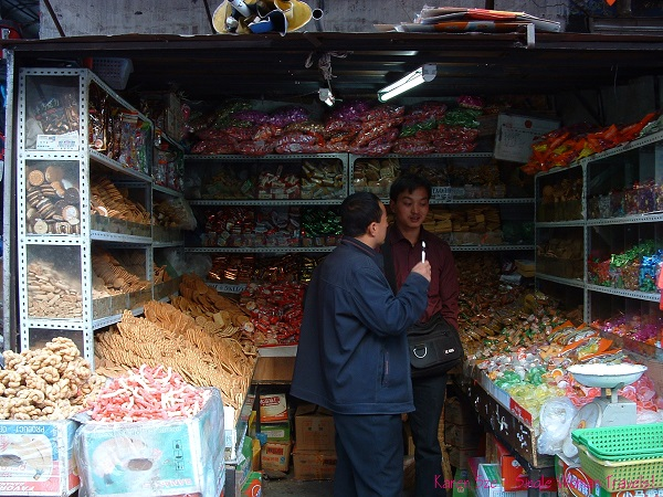 Candy and snacks store owned and operated by Chinese migrants in Tibet