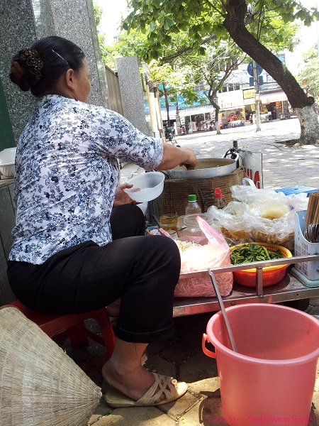 Hanoi pho street vendor in Vietnam