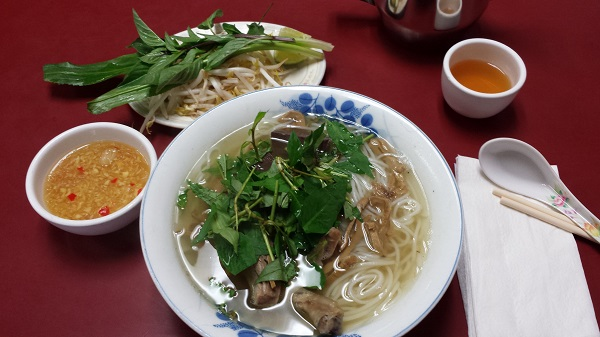 Pho with Duck and bamboo shoots in Toronto at Pho Tien Thanh