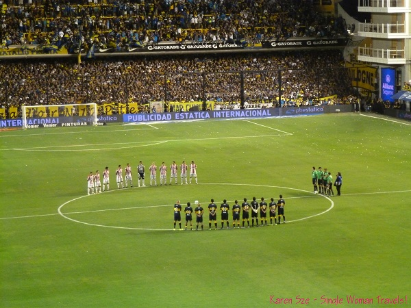 Start of game between Boca Juniors and Union de Santa Fe on March 3 2013, Buenos Aires, Argentina