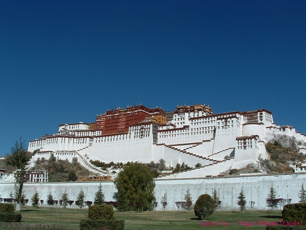 The Red and White palace of Potala Palace in Lhasa, Tibet