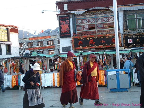Tibetan monks in Lhasa, Tibet