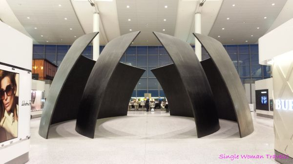 Stunning sculpture found inside Toronto Pearson airport in Canada