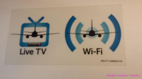 Turkish airline Live TV and Free WiFi service on cross atlantic flight