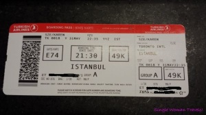 Turkish airlines boarding pass YYZ - IST