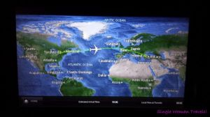 YYZ to IST flight map on board Turkish airlines TK18