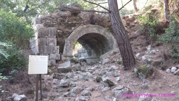 Entrance to old theatre of Olympos