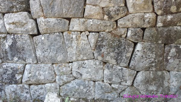 Old Olympos city wall