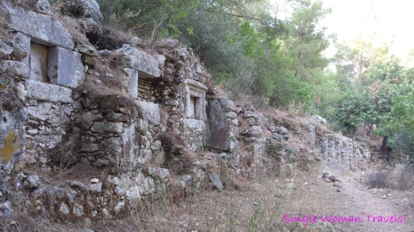 Section of South Necropolis of Olympos Turkey