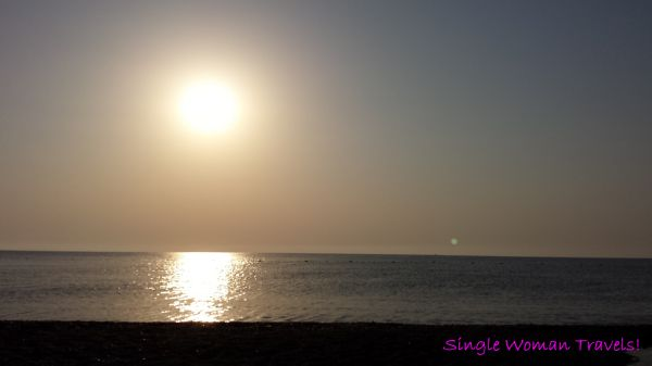 Sunrise over Olympos beach Turkey