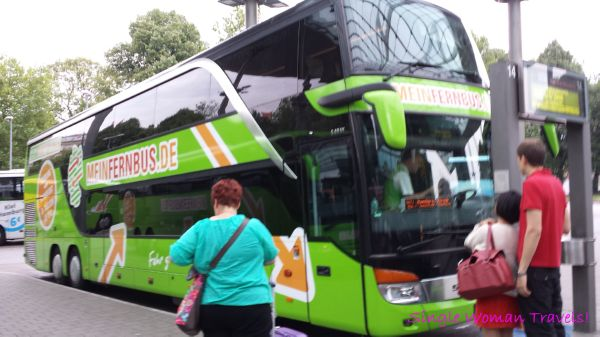 My bus from Hamburg to Frankfurt am Main