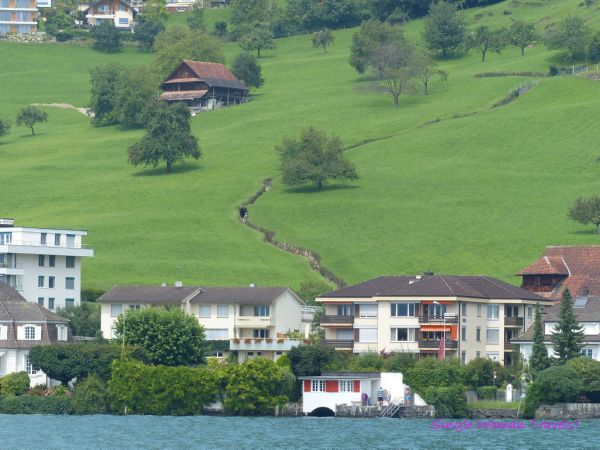 changing landscape on Lake Lucerne
