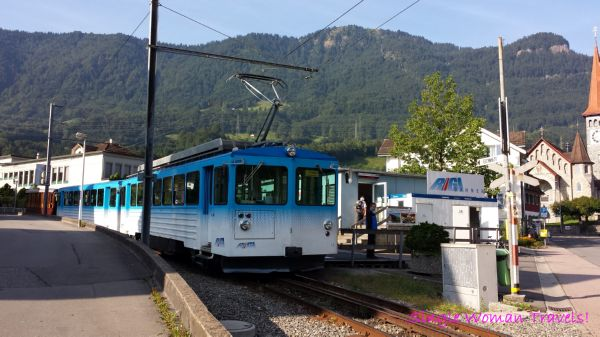 Cog wheel train to Mt Rigi Switzerland