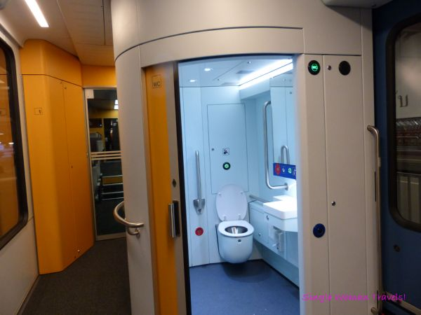 Facilities inside SBB train between Visp and Zermatt
