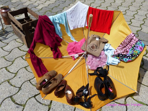 Items for sale at flea market Lausanne Switzerland