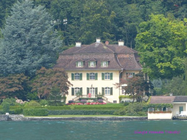 Little manor on Lake Lucerne Switzerland