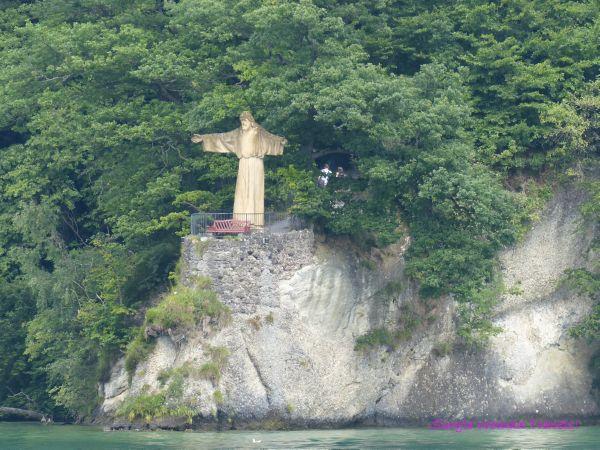 Mini Christ the Redeemer on Lake Lucerne