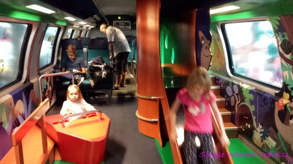 Playground inside SBB train between Zurich and Lucerne
