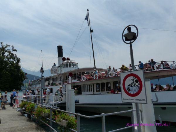 Ready to board the cruise at Vitznau Switzerland